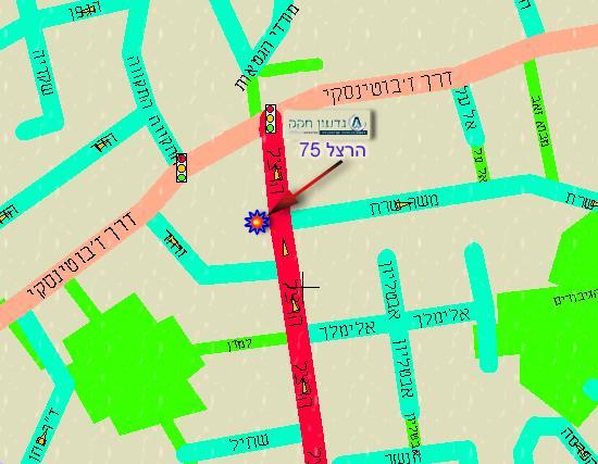 גדעון חקק חשבונאות שיווקית ומיסים Map - Ramat gan map